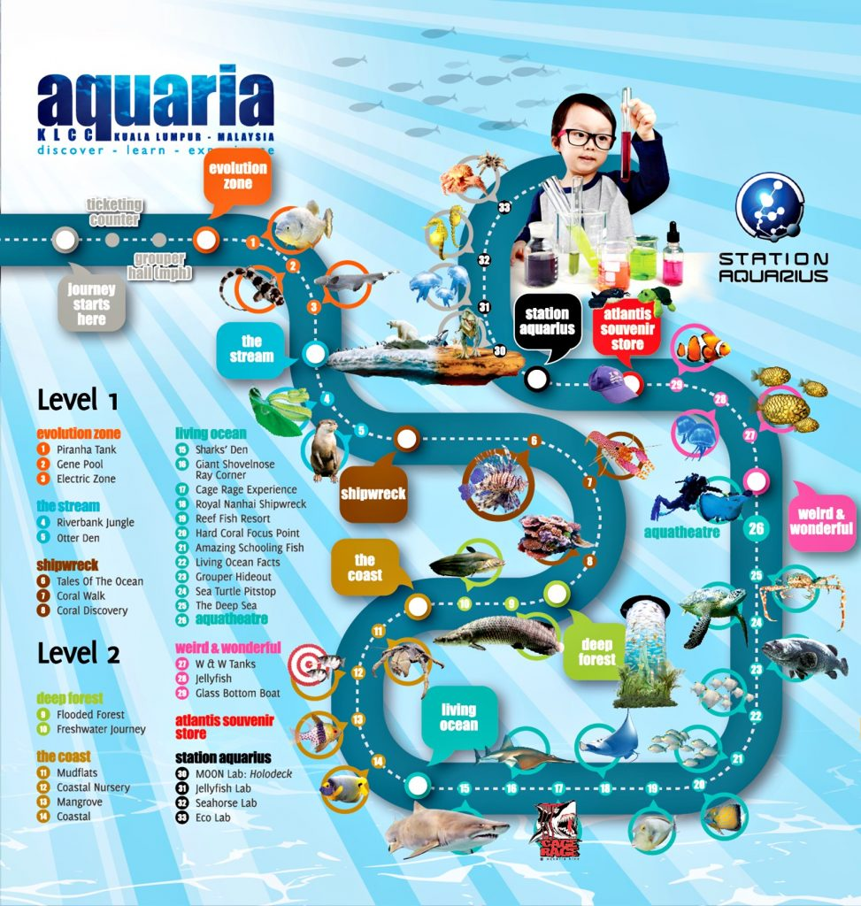 Aquaria-KLCC-Map