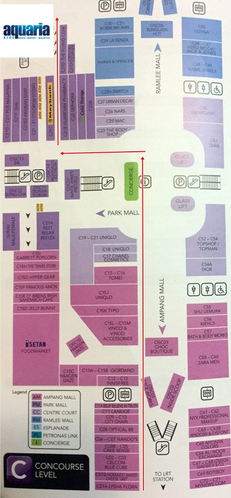 Suria-KLCC-Map-to-Aquaria-KLCC-Direction