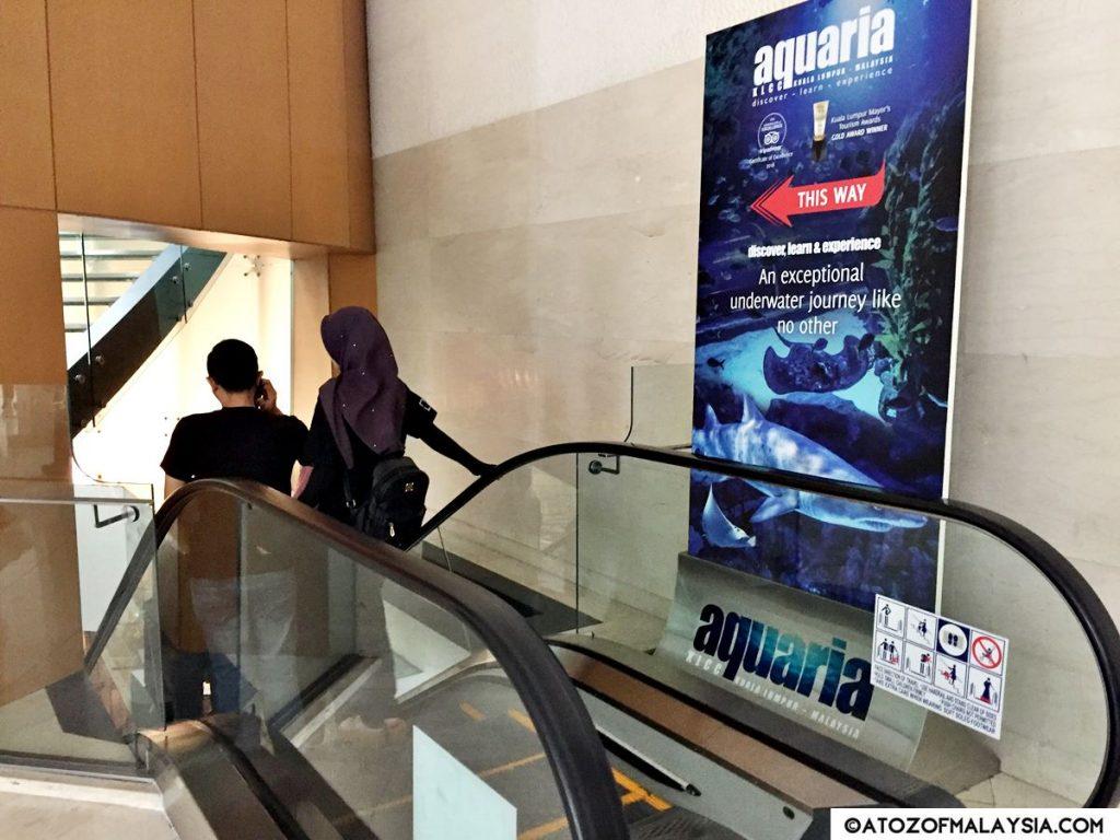 Elevator Down towards Aquaria KLCC