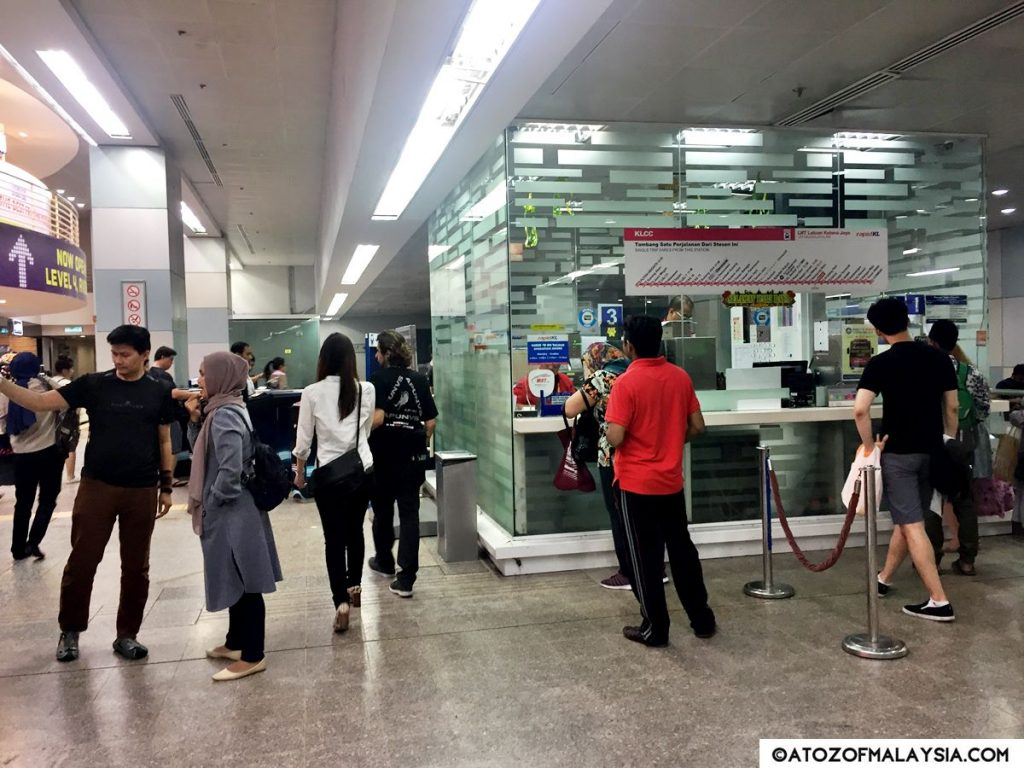 KLCC LRT Station payment counter