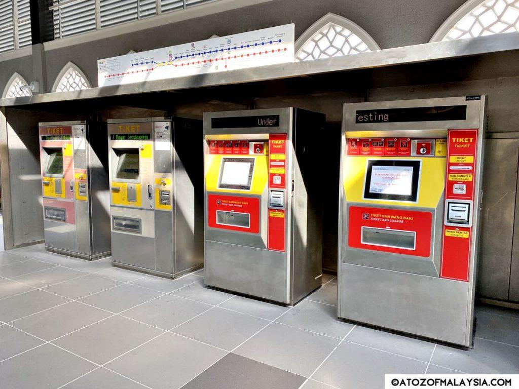 KTM Kuala Lumpur token machines