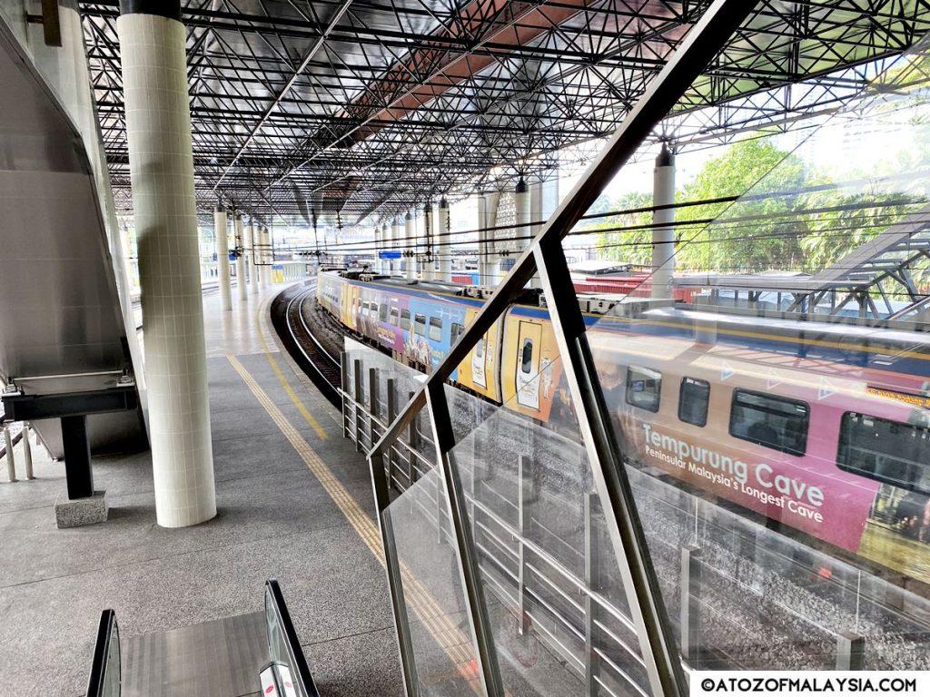 Kuala Lumpur KTM train station down the escalator