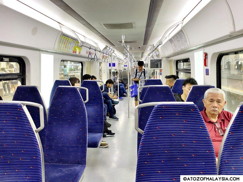 inside KTM train