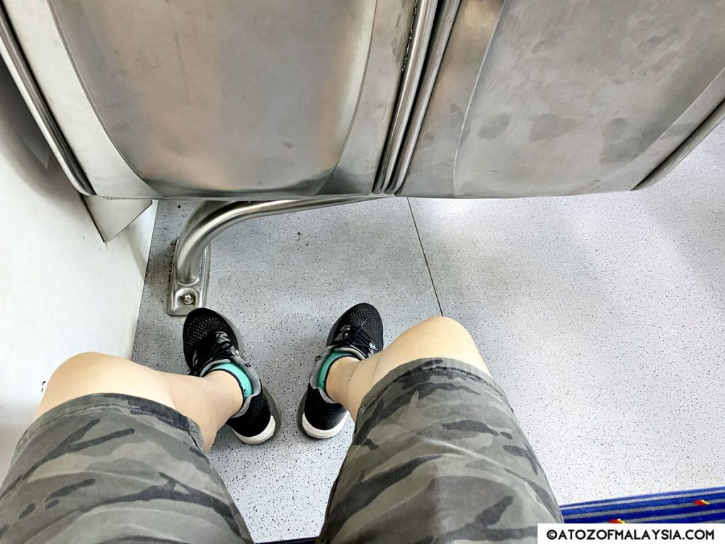 spacious leg room in the KTM train coach